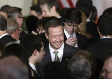 Maryland Governor Martin O'Malley (D-MD) attends a St. Patrick's Day reception at the White House in Washington, March 19, 2013.