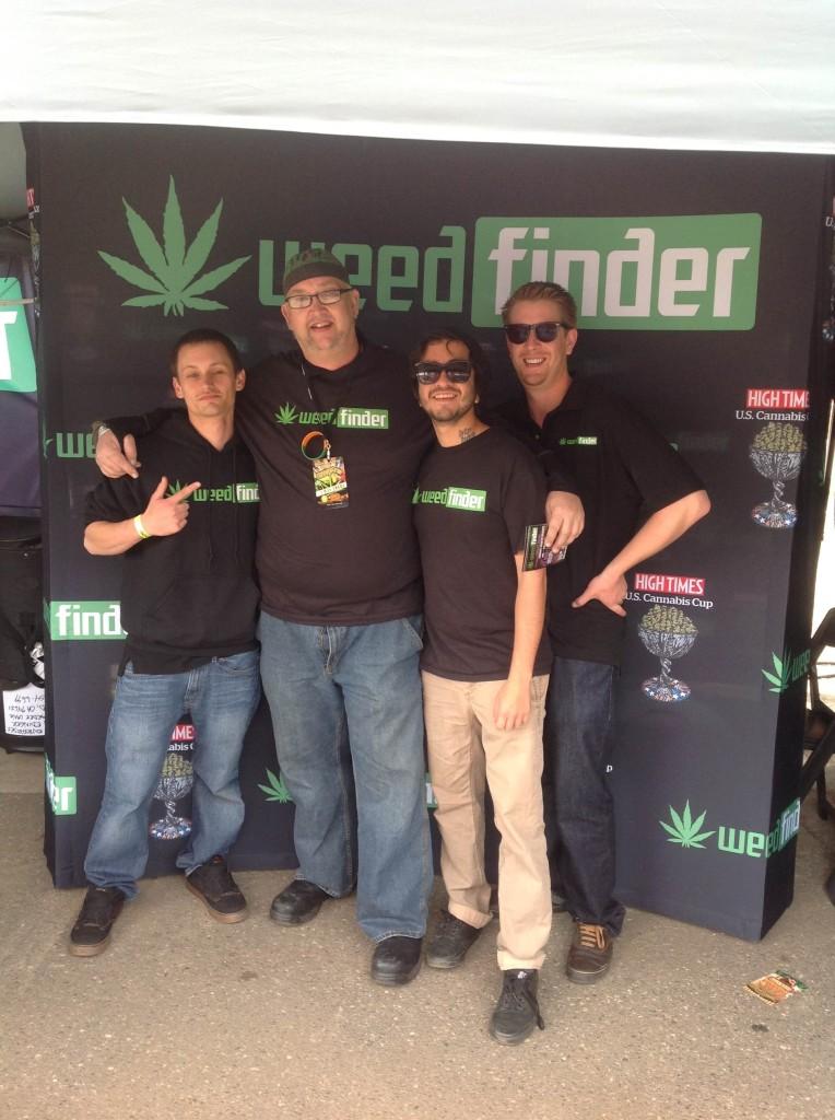 WeedFinder crew with The Colorado Midnight Rider.