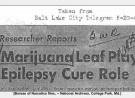 CENSORED: 1947 Cannabis Study on Epilepsy